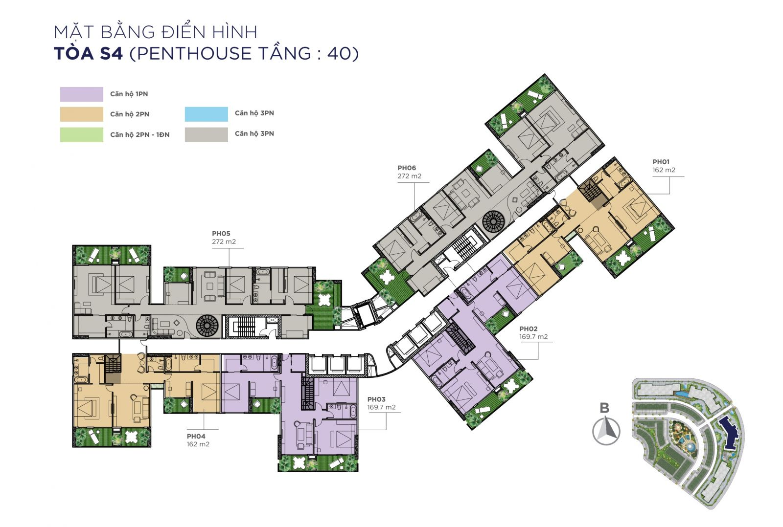 penthouse tầng 40